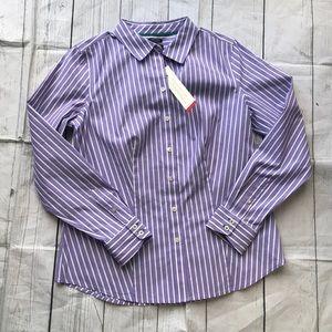 Talbots button down shirt NWT
